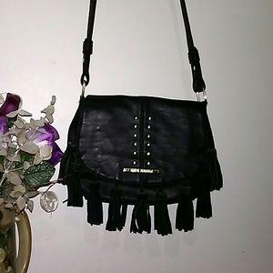 Steve Madden Black Leather Crossbody Bag/ Purse